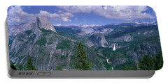 Nevada Fall And Half Dome, Yosemite Portable Battery Charger by Panoramic Images