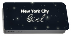 New York City Girl Portable Battery Charger by Pati Photography