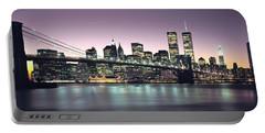 New York City Skyline Portable Battery Charger by Jon Neidert