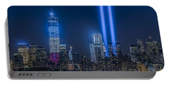 New York City Tribute In Lights Portable Battery Charger by Susan Candelario