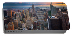 New York New York Portable Battery Charger by Inge Johnsson