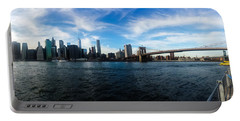 New York Skyline - Color Portable Battery Charger by Nicklas Gustafsson