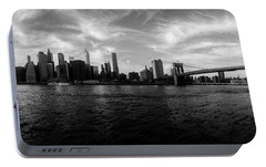 New York Skyline Portable Battery Charger by Nicklas Gustafsson