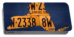 New York State License Plate Map Portable Battery Charger by Design Turnpike