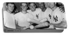 New York Yankee Sluggers Portable Battery Charger by Underwood Archives