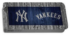 New York Yankees Barn Door Portable Battery Charger by Dan Sproul