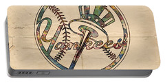 New York Yankees Poster Vintage Portable Battery Charger by Florian Rodarte
