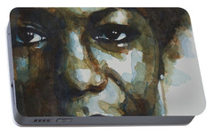 Nina Simone Portable Battery Charger by Paul Lovering