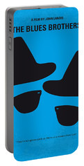 No012 My Blues Brother Minimal Movie Poster Portable Battery Charger by Chungkong Art