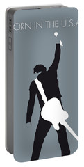 No017 My Bruce Springsteen Minimal Music Poster Portable Battery Charger by Chungkong Art