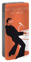 No053 My Elton John Minimal Music Poster Portable Battery Charger by Chungkong Art