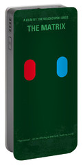 No117 My Matrix Minimal Movie Poster Portable Battery Charger by Chungkong Art
