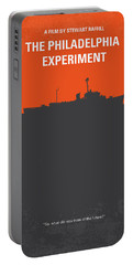 No126 My The Philadelphia Experiment Minimal Movie Poster Portable Battery Charger by Chungkong Art