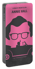 No147 My Annie Hall Minimal Movie Poster Portable Battery Charger by Chungkong Art