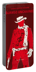 No184 My Django Unchained Minimal Movie Poster Portable Battery Charger by Chungkong Art
