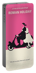 No205 My Roman Holiday Minimal Movie Poster Portable Battery Charger by Chungkong Art