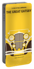 No206 My The Great Gatsby Minimal Movie Poster Portable Battery Charger by Chungkong Art