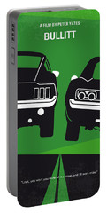 No214 My Bullitt Minimal Movie Poster Portable Battery Charger by Chungkong Art