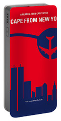 No219 My Escape From New York Minimal Movie Poster Portable Battery Charger by Chungkong Art