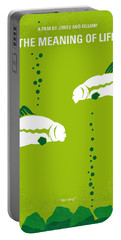 No226 My The Meaning Of Life Minimal Movie Poster Portable Battery Charger by Chungkong Art