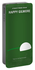 No256 My Happy Gilmore Minimal Movie Poster Portable Battery Charger by Chungkong Art