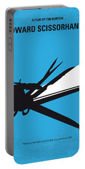 No260 My Scissorhands Minimal Movie Poster Portable Battery Charger by Chungkong Art