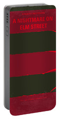 No265 My Nightmare On Elmstreet Minimal Movie Poster Portable Battery Charger by Chungkong Art