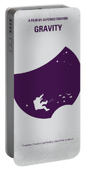 No269 My Gravity Minimal Movie Poster Portable Battery Charger by Chungkong Art