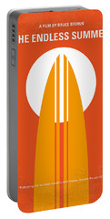 No274 My The Endless Summer Minimal Movie Poster Portable Battery Charger by Chungkong Art