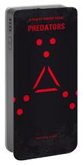 No289 My Predators Minimal Movie Poster Portable Battery Charger by Chungkong Art