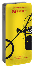 No333 My Easy Rider Minimal Movie Poster Portable Battery Charger by Chungkong Art