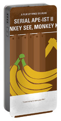 No356 My Serial Ape-ist Minimal Movie Poster Portable Battery Charger by Chungkong Art