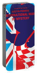 No373 My Austin Powers I Minimal Movie Poster Portable Battery Charger by Chungkong Art