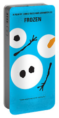 No396 My Frozen Minimal Movie Poster Portable Battery Charger by Chungkong Art