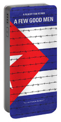 No417 My A Few Good Men Minimal Movie Poster Portable Battery Charger by Chungkong Art