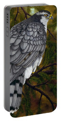 Northern Goshawk Portable Battery Charger by Rick Bainbridge