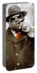 Notorious Big - Biggie Smalls Artwork 3 Portable Battery Charger by Sheraz A