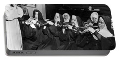 Nuns Rehearse For Concert Portable Battery Charger by Underwood Archives