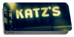 Nyc's Famous Katz's Deli Portable Battery Charger by Paulo Guimaraes