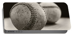 Old Baseballs Portable Battery Charger by Edward Fielding