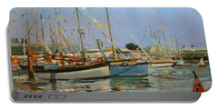 Old Gaffers  Yarmouth  Isle Of Wight Portable Battery Charger by Jennifer Wright