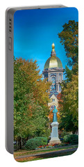 On The Campus Of The University Of Notre Dame Portable Battery Charger by Mountain Dreams