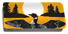 Orange Loon Portable Battery Charger by Derrick Higgins