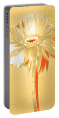 Orange Slice Zinnia Portable Battery Charger by Sherry Allen
