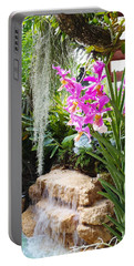 Orchid Garden Portable Battery Charger by Carey Chen