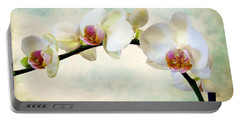 Orchid Heaven Portable Battery Charger by Jessica Jenney