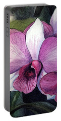 Orchid Portable Battery Charger by Irina Sztukowski