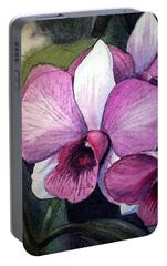 Orchid Portable Battery Charger by Irina Sztukowski