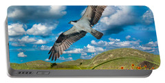 Osprey On Shackleford Banks Portable Battery Charger by Betsy Knapp