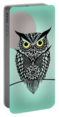 Owl 5 Portable Battery Charger by Mark Ashkenazi